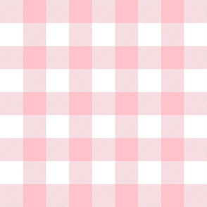 buffalo plaid 2in light pink and white