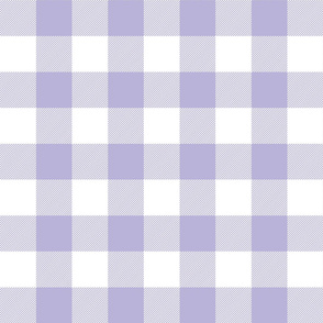 buffalo plaid 2in light purple and white
