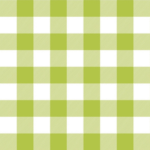 buffalo plaid 2in lime green and white