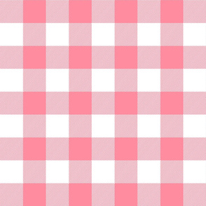 buffalo plaid 2in pretty pink and white