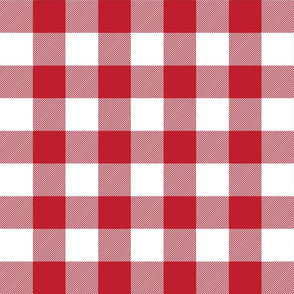buffalo plaid 2in red and white