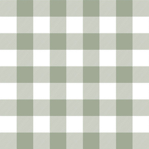 buffalo plaid 2in sage green and white