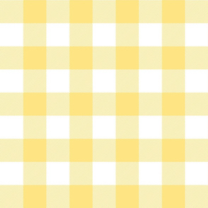 buffalo plaid 2in sunshine yellow and white