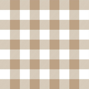 buffalo plaid 2in tan and white