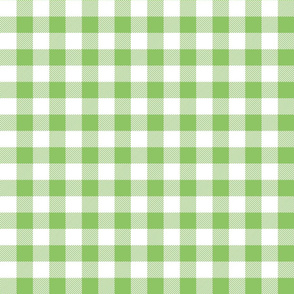 buffalo plaid 1in apple green and white
