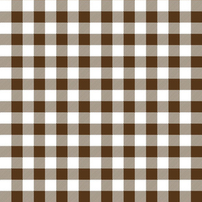 buffalo plaid 1in brown and white