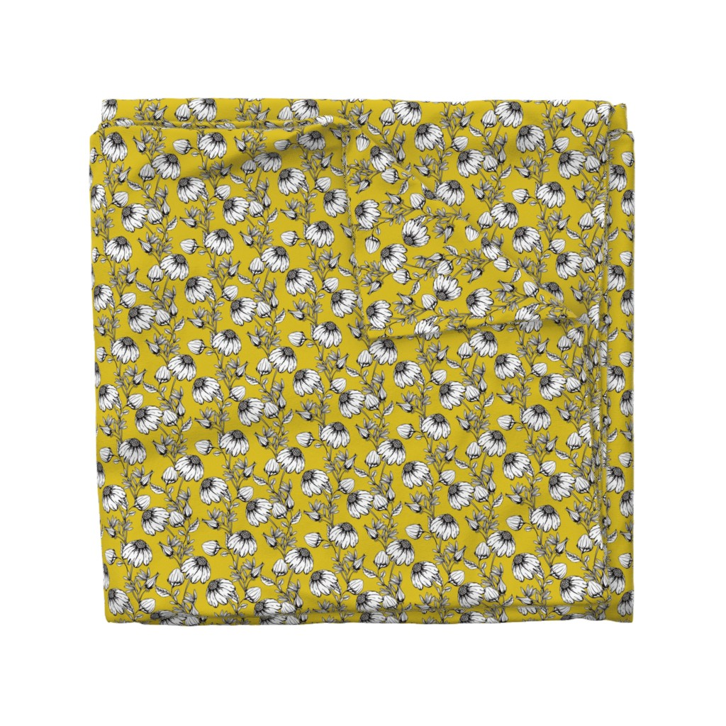 Wyandotte Duvet Cover featuring Bloom yellow by lapetitelecour