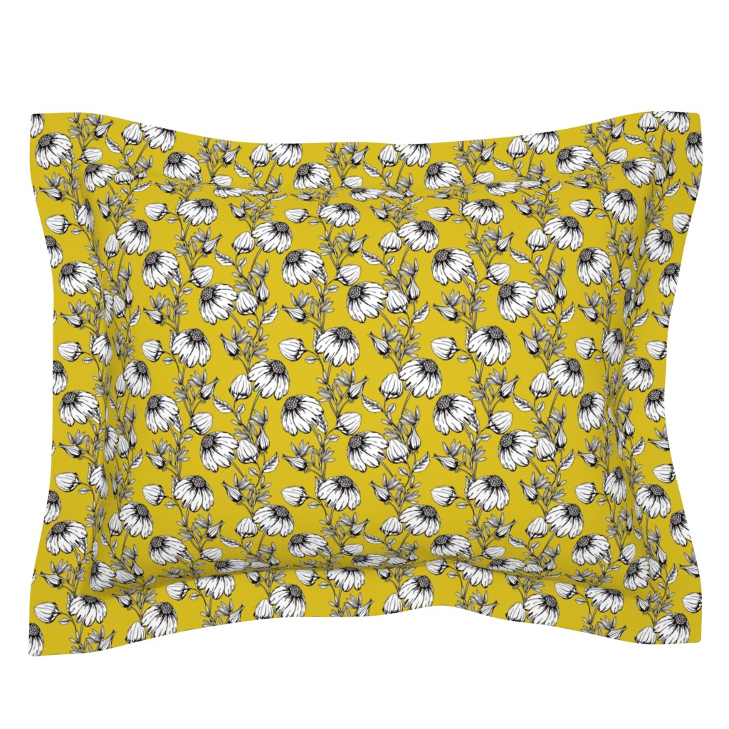 Sebright Pillow Sham featuring Bloom yellow by lapetitelecour
