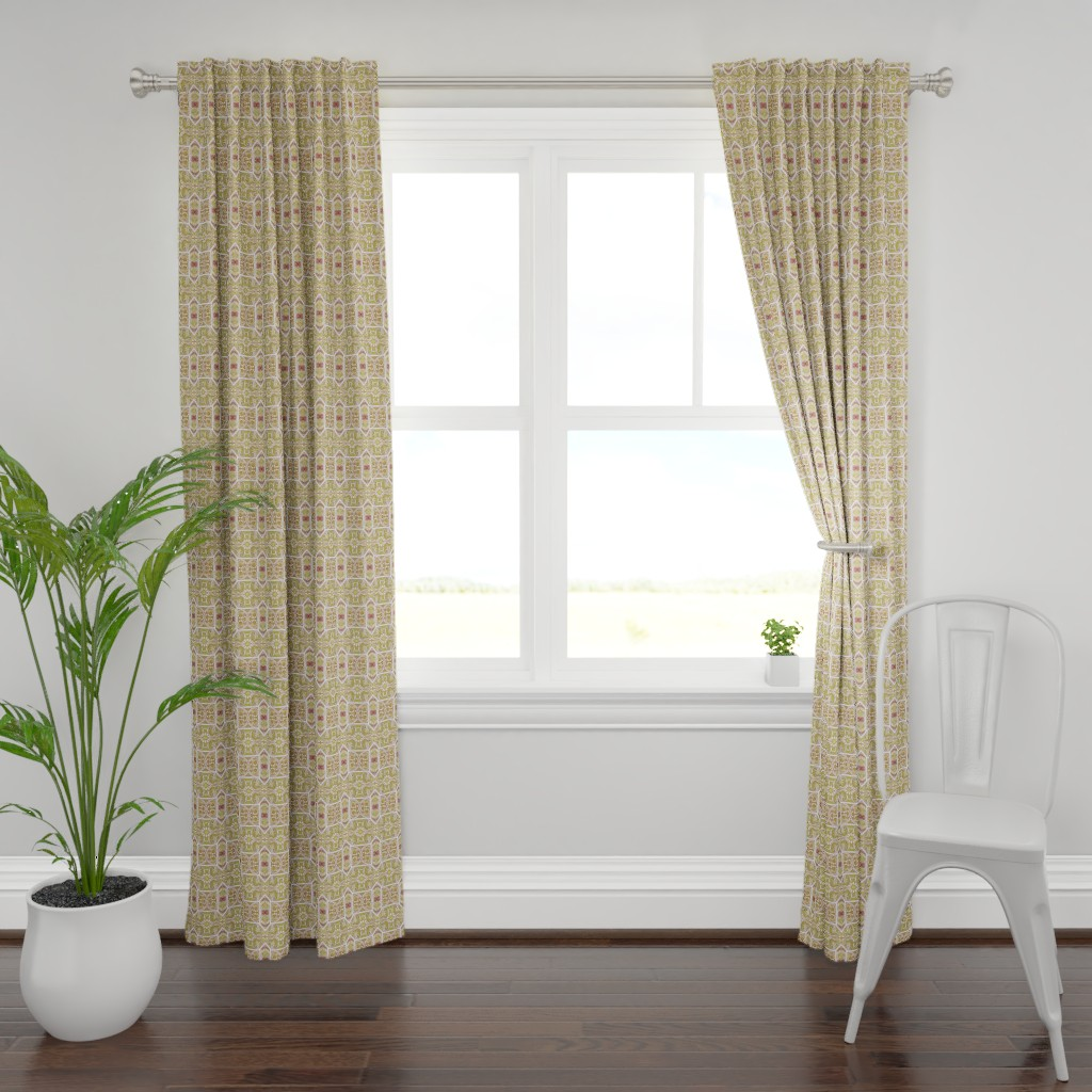 Plymouth Curtain Panel featuring Window Overlooking 1892 by edsel2084