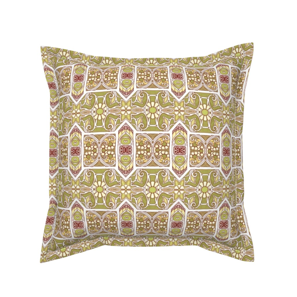 Serama Throw Pillow featuring Window Overlooking 1892 by edsel2084