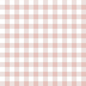buffalo plaid 1in dusty pink and white