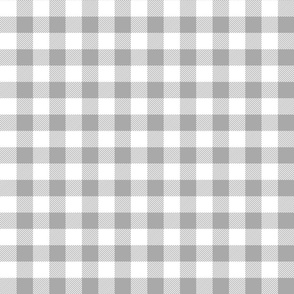 buffalo plaid 1in grey and white