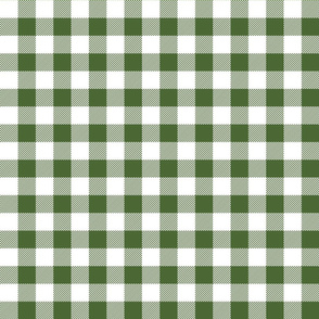 buffalo plaid 1in hunter green and white