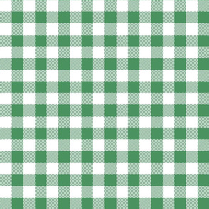 buffalo plaid 1in kelly green and white