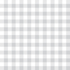 buffalo plaid 1in light grey and white
