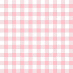 buffalo plaid 1in light pink and white