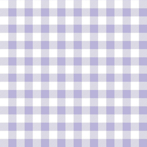 buffalo plaid 1in light purple and white