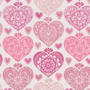 Valentine Heart Doilies