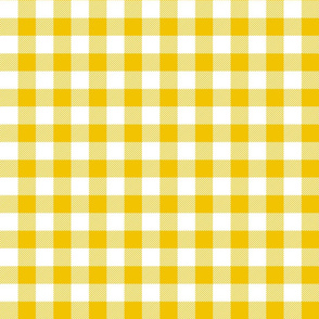 buffalo plaid 1in mustard yellow and white