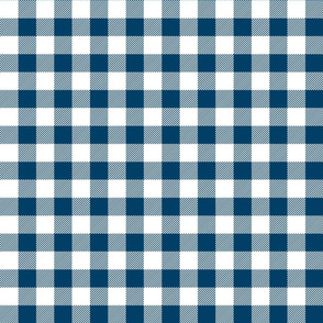 buffalo plaid 1in navy blue and white