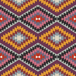 Pink and Purple Kilim Southwestern