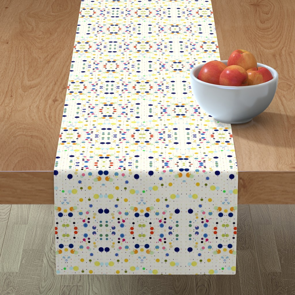 Minorca Table Runner featuring DOTGRID by colortherapeutics