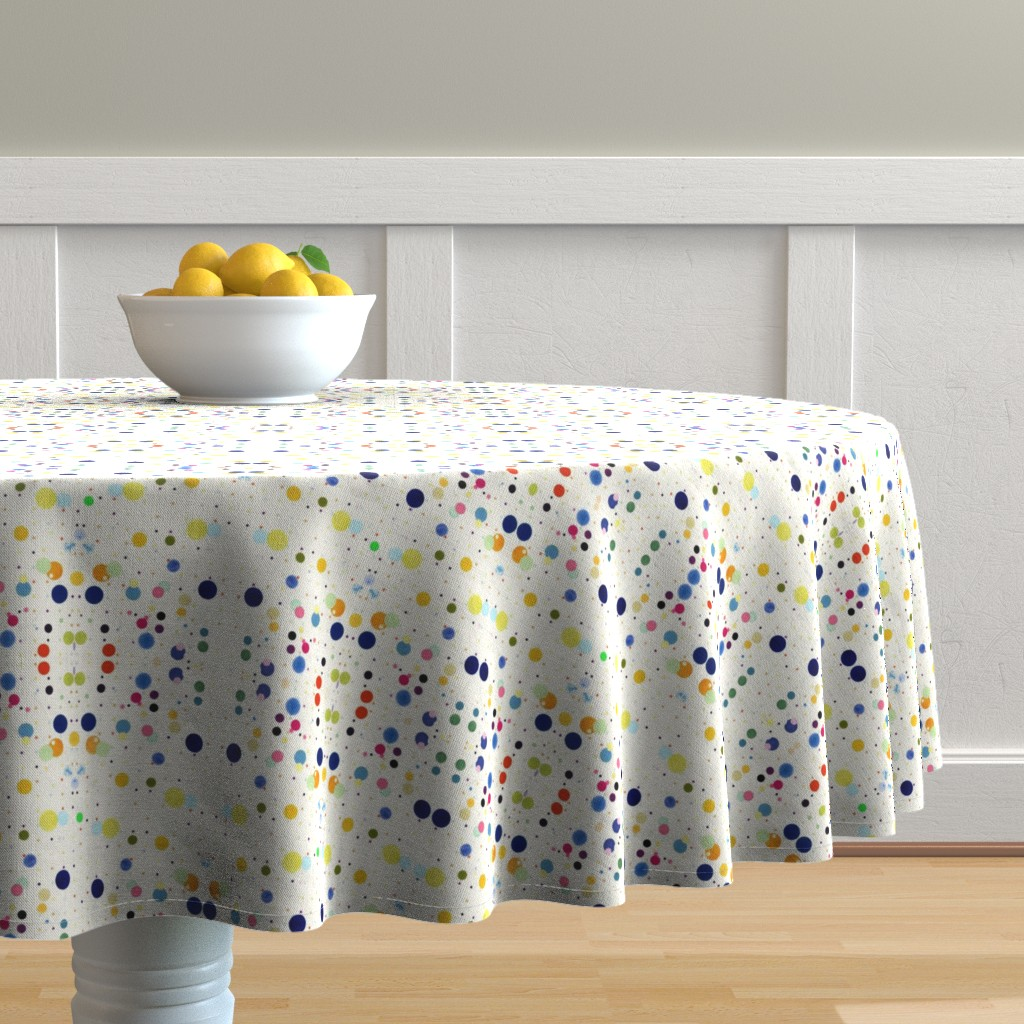 Malay Round Tablecloth featuring DOTGRID by colortherapeutics