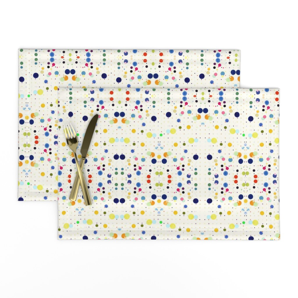Lamona Cloth Placemats featuring DOTGRID by colortherapeutics