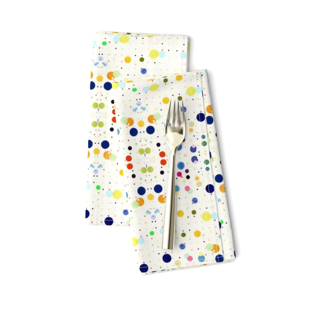 Amarela Dinner Napkins featuring DOTGRID by colortherapeutics