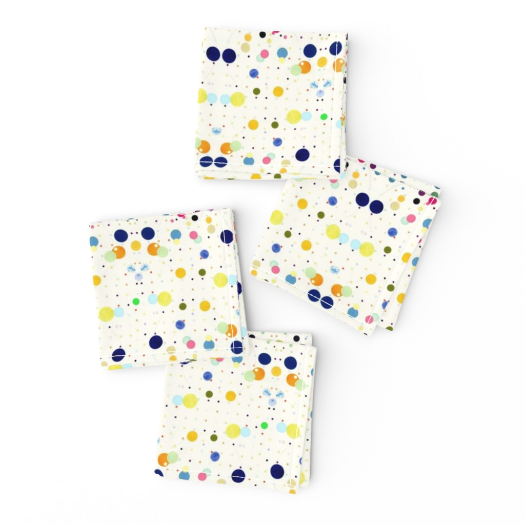 Frizzle Cocktail Napkins featuring DOTGRID by colortherapeutics