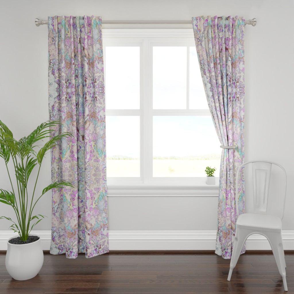 Plymouth Curtain Panel featuring HydraSulphuryEdge by colortherapeutics