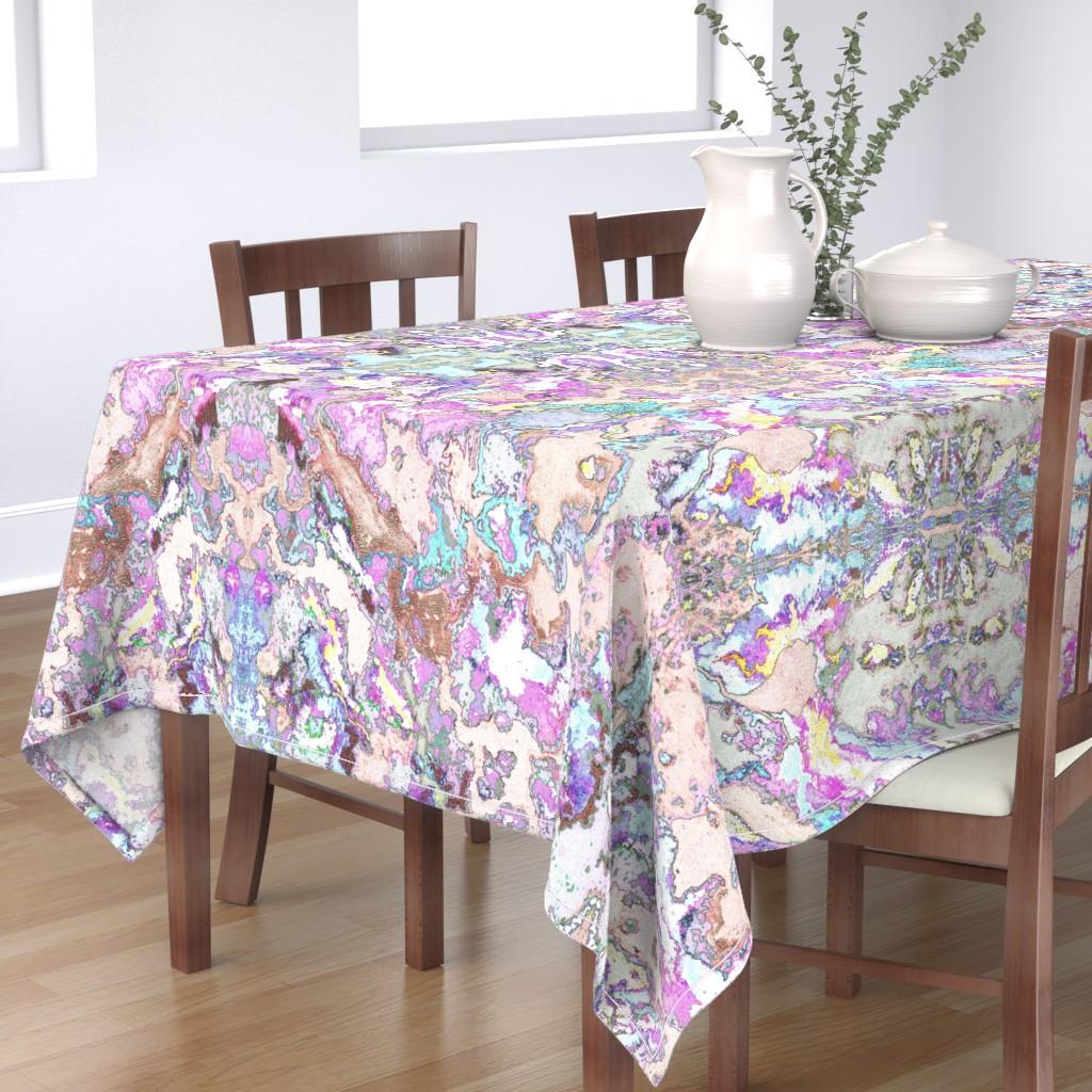 Bantam Rectangular Tablecloth featuring HydraSulphuryEdge by colortherapeutics
