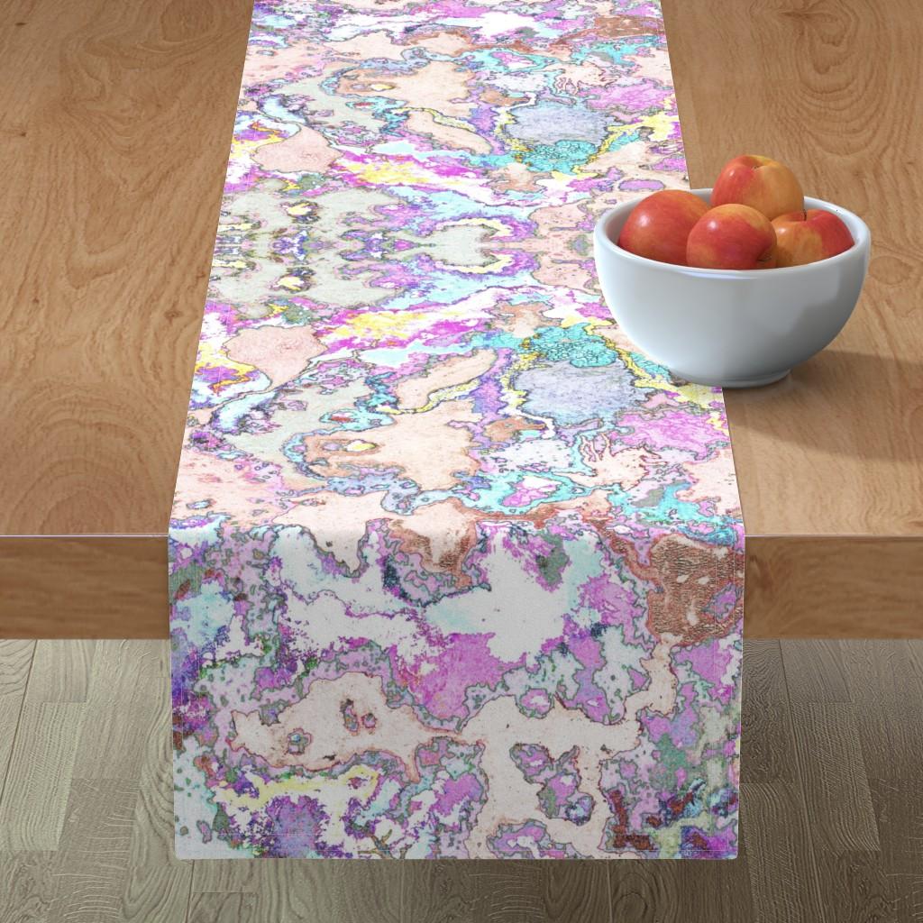 Minorca Table Runner featuring HydraSulphuryEdge by colortherapeutics