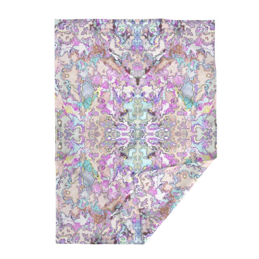 Lakenvelder Throw Blanket featuring HydraSulphuryEdge by colortherapeutics