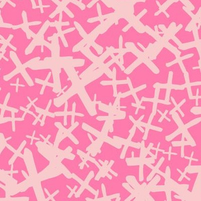x marks the spot pink