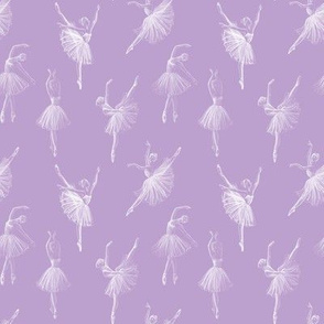 Ballerinas drawing, purple (small scale)