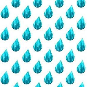 Blue raindrops // rain // turquoise rain