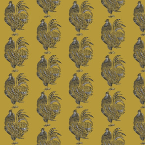 yellow rooster