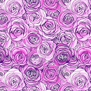 Lilac roses, purple roses // Lilac floral