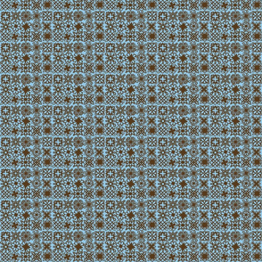 Kirgiami Pattern in Blue and Brown