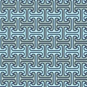 Secret Passage* (Camouflage) || Egypt Egyptian geometric meander interlocking polka dots optical illusion