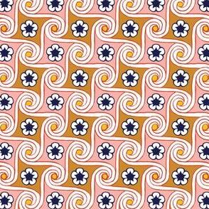 Scrolls & Flowers* (Mona) || flower floral Egypt Egyptian waves