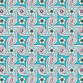 Scrolls & Flowers* (Polymer) || flower floral Egypt Egyptian waves
