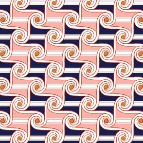 Scrolls & Stripes* (Mona) || Egypt Egyptian geometric hand drawn waves