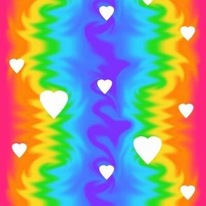 Rainbow Wave Tie Dye Hearts