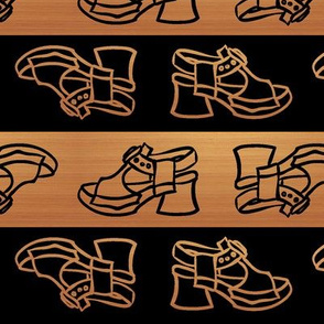 Fluevog Sandal Clog -- Black