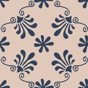 Greek Mermaid - Navy, Pink