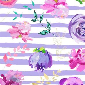 MPG Toss on Lavender Stripes