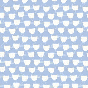 Light Blue Garden Tea Party Cups pattern
