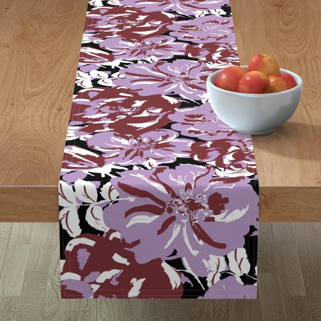 Minorca Table Runner featuring Wildroses by susanna_nousiainen